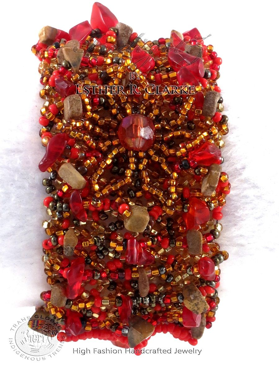 IndigetZ high-fashion, handcrafted jewelry. Oh so lovely! ♥♥♥ See more of #IndigetZ gorgeous wearable art pieces at https://www.facebook.com/EstherRClarke #fashion #exotic #style #accessories #Africanfashion #Afrifashion #afrofashion #jewelry #handmade #handcrafted #bling