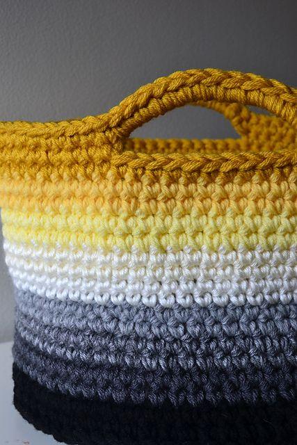 A bigger basket than the chunky yarn version this one takes four a bigger basket than the chunky yarn version this one takes four strands of worsted weight yarnor t shirt yarn dt1010fo