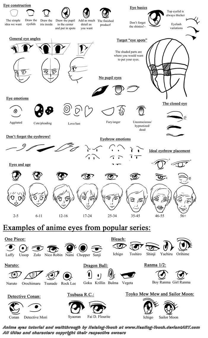 Anime Eyes Walkthrough By Healing Touch On DeviantArt