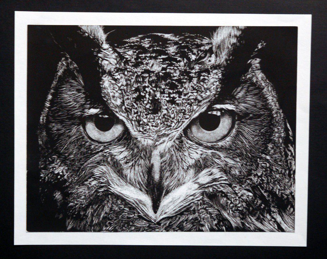 """Owl"" by Hannah Lane, 2016 Jimmie Matthews Award | Best of Show"