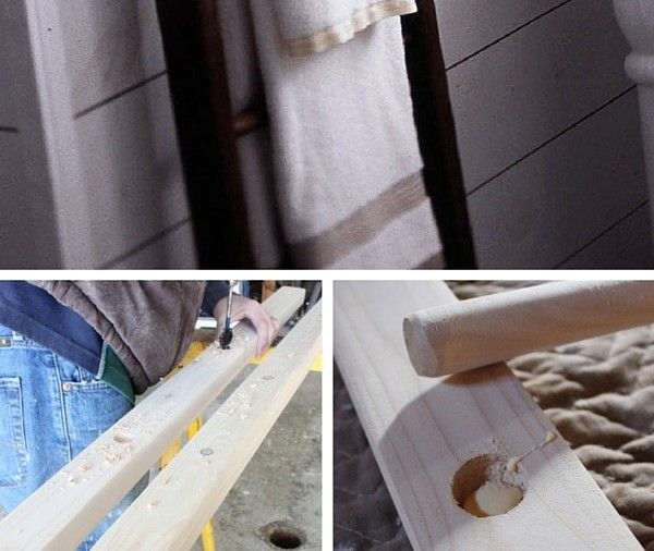 DIY Ladder Towel Rack   Industry Standard Design