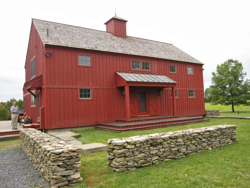 Red Barn Garage Chatham New York Barn Style Red Home