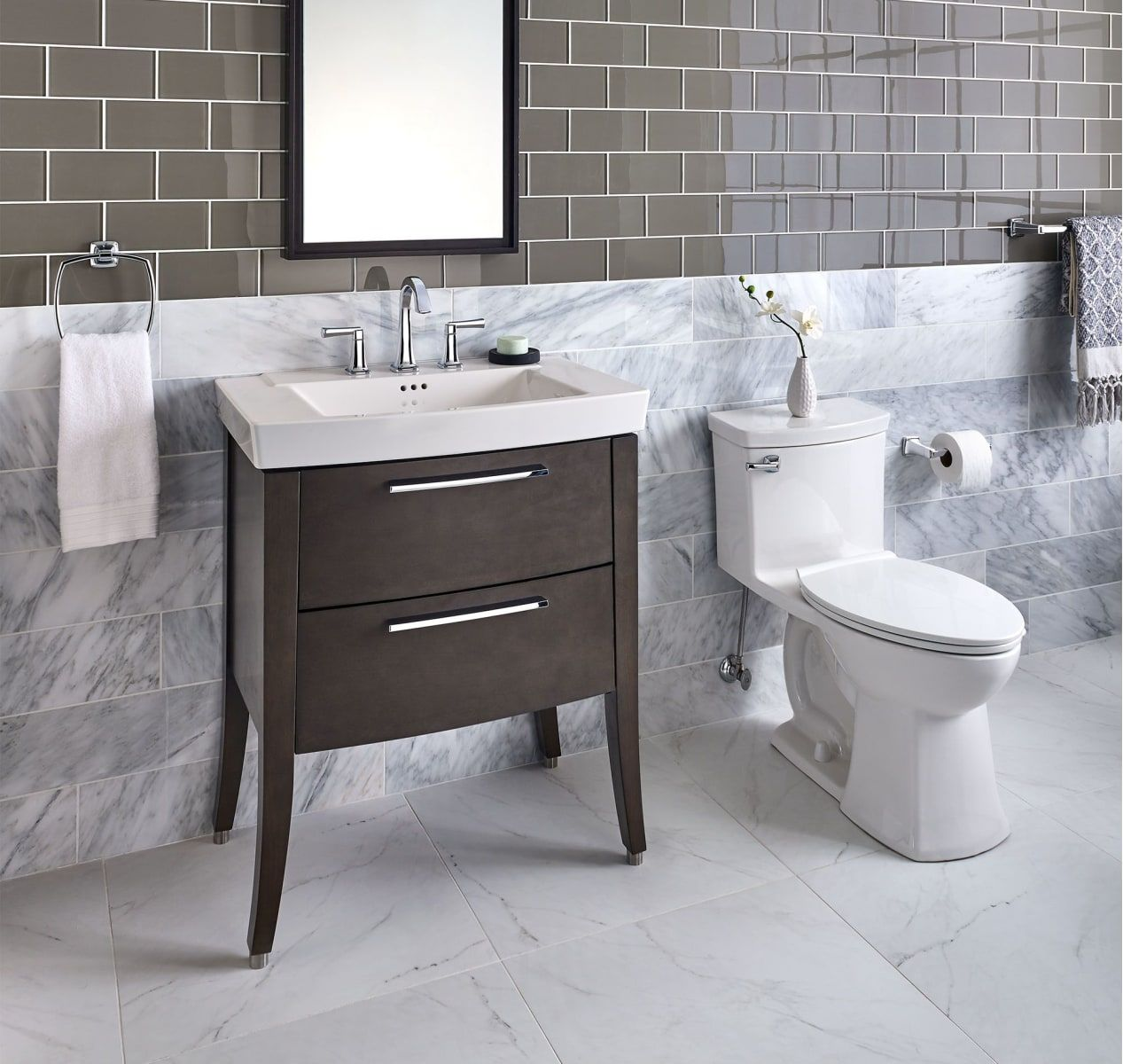 """American Standard 9036030.475 Smoked Grey Townsend 30"""" Vanity Cabinet Only - Less Vanity Top"""
