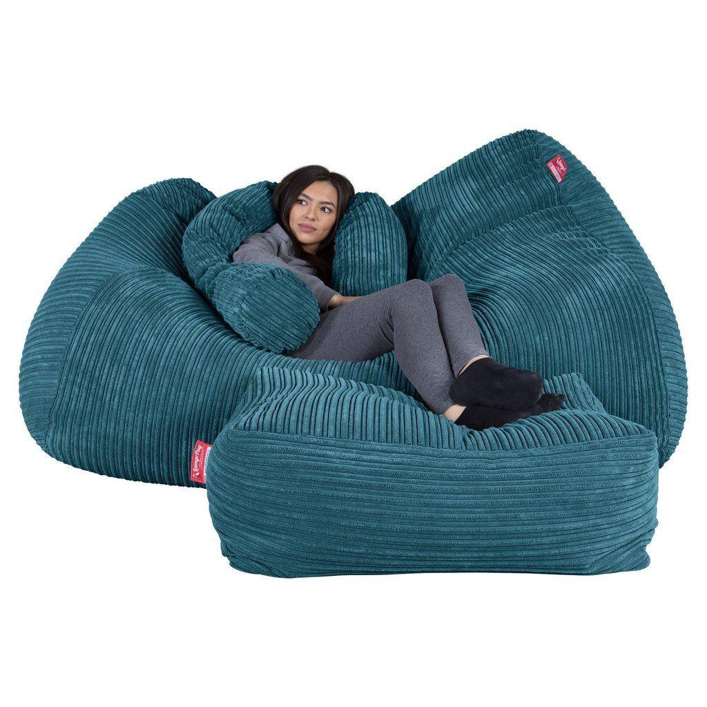 Riesen Sitzsack Couch Cord Türkis Sitzsack Säckchen Sitzsack Bett