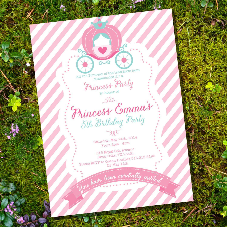 Princess Party Invitation - Cinderella Party - Instantly ...