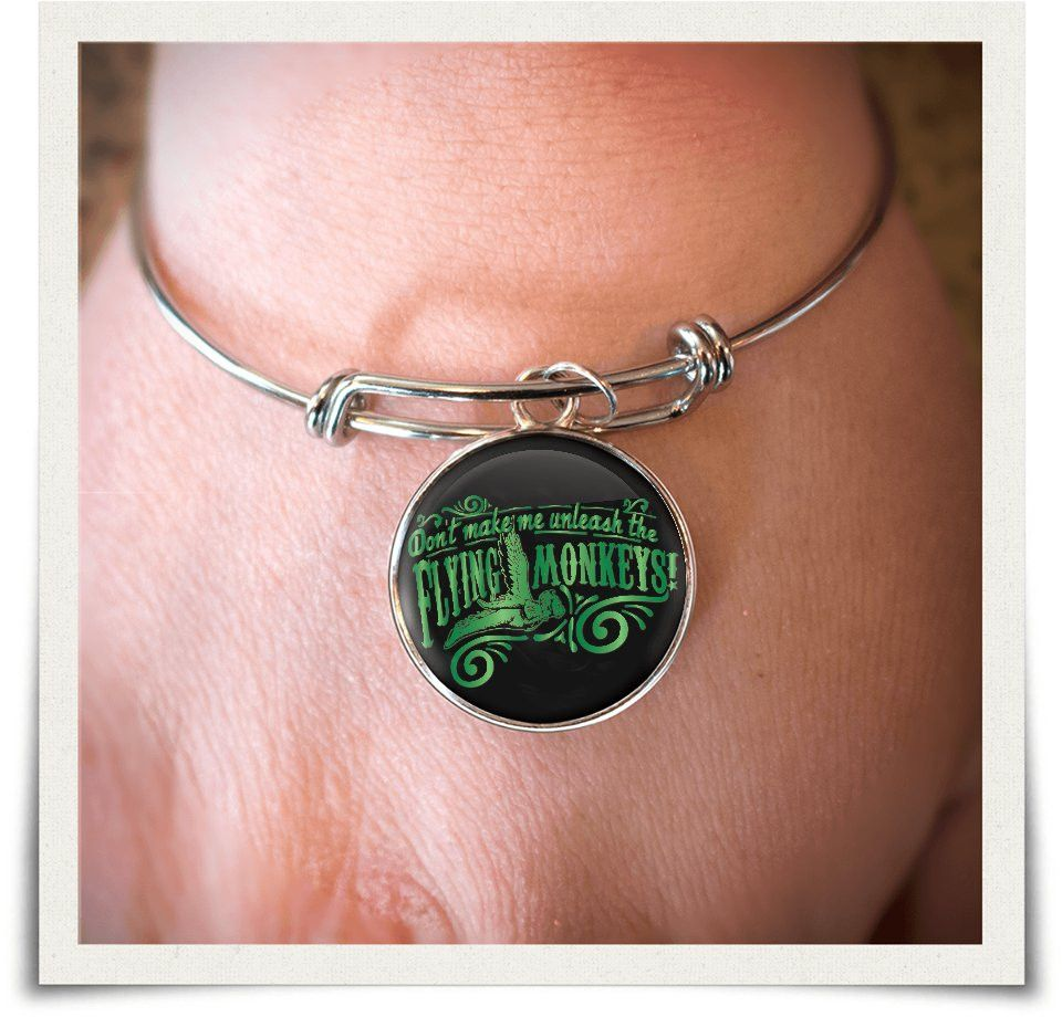 Flying monkeys wizard of oz bangle gifts for her bangle