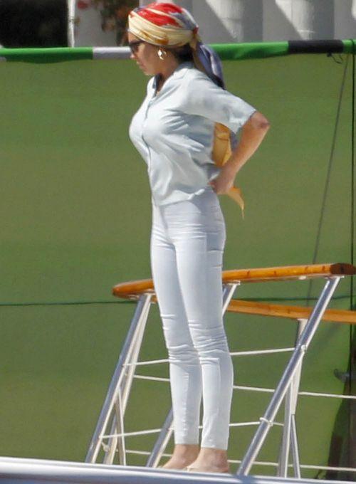 Lindsay Lohan On The Set Of Liz & Dick
