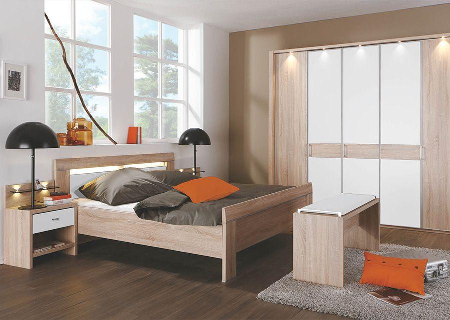 Schlafzimmer Komplett Saragossa Hochglanz SchwarzWeiss | möbel ...
