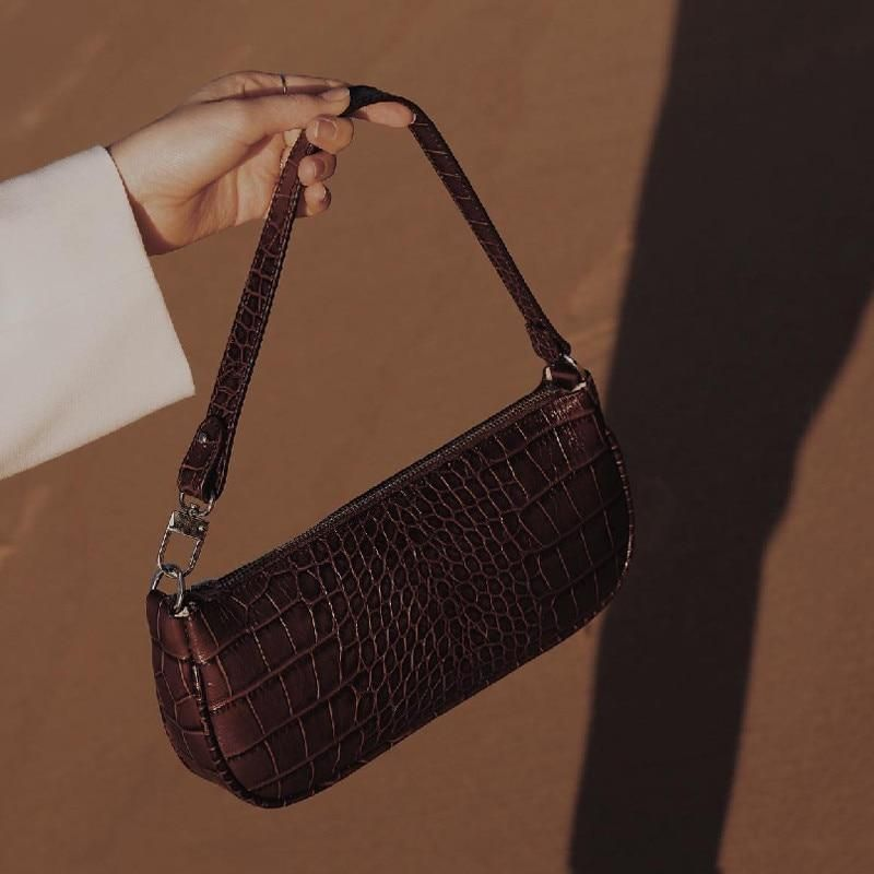 French Niche Crocodile Pattern Retro Bag Handbags 2020 New