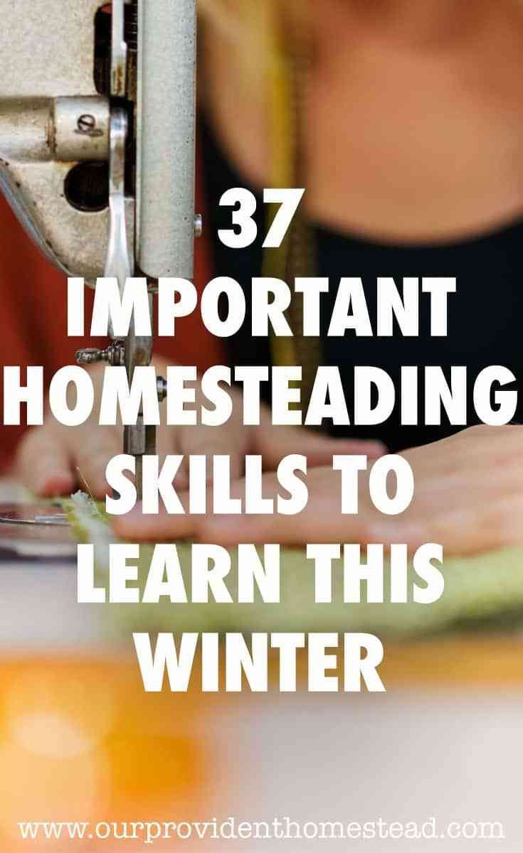37 Important Homesteading Skills to Learn this Winter