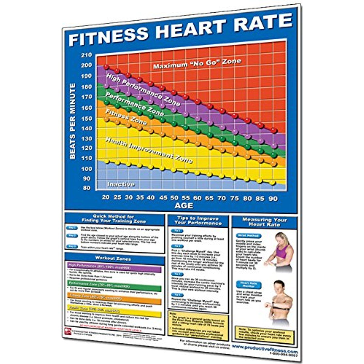 Productive Fitness Laminated Fitness Poster Fitness Heart Rate