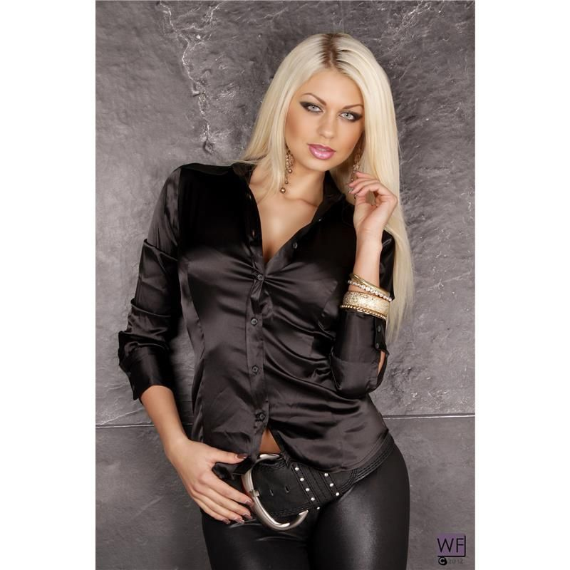 Black Satin Blouse Photo Album - Reikian