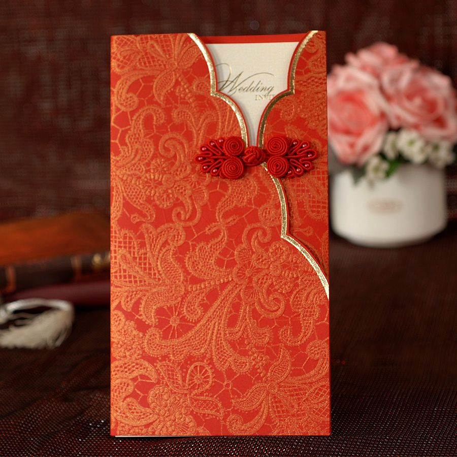 Dreamday Invitations Invitation Card Wedding Chinese Style Classical Traditional Envelopes Personalized Wiv S 10