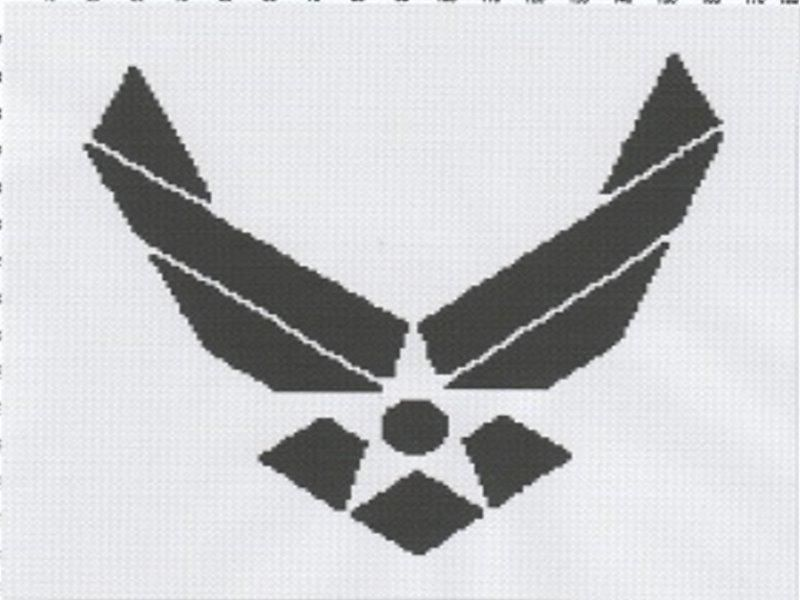 Air Force Symbol Afghan Graph Pattern Crochet Pinterest Air