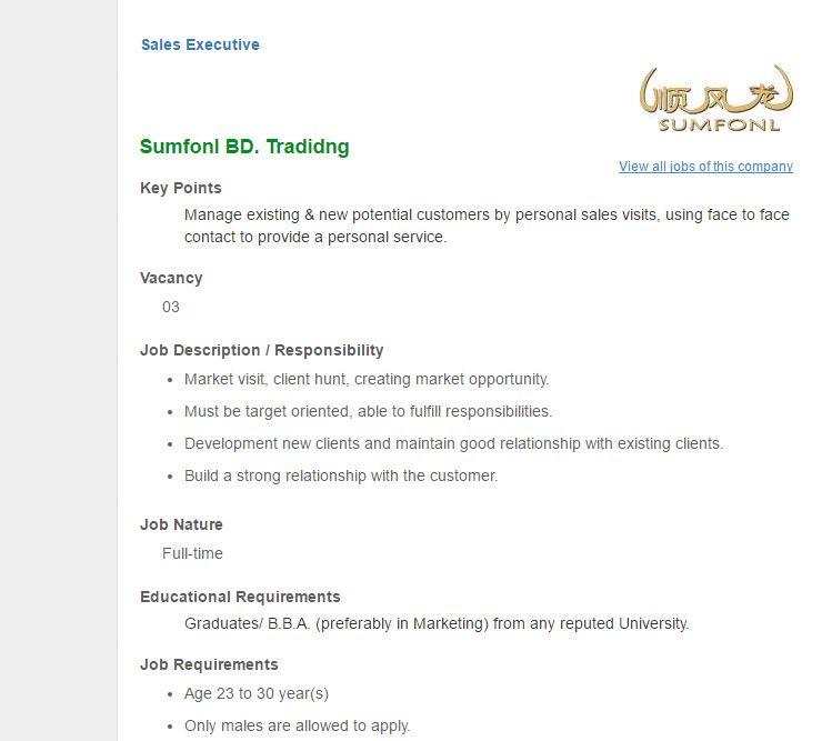 Bashundhara Group Executive IntL Marketing  Export Job