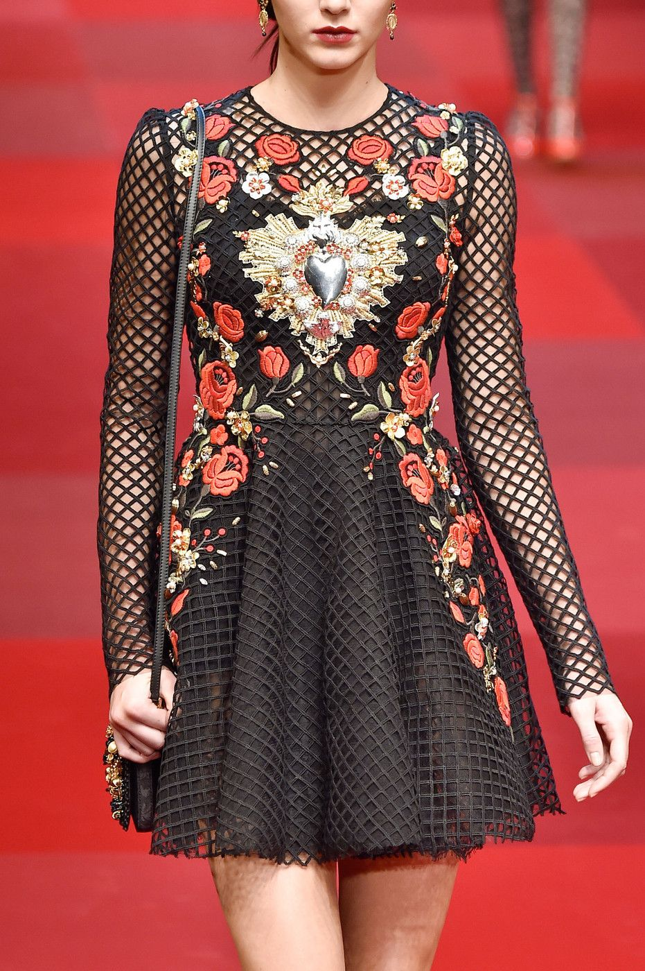 Dolce & Gabbana at Milan Fashion Week Spring 2015.