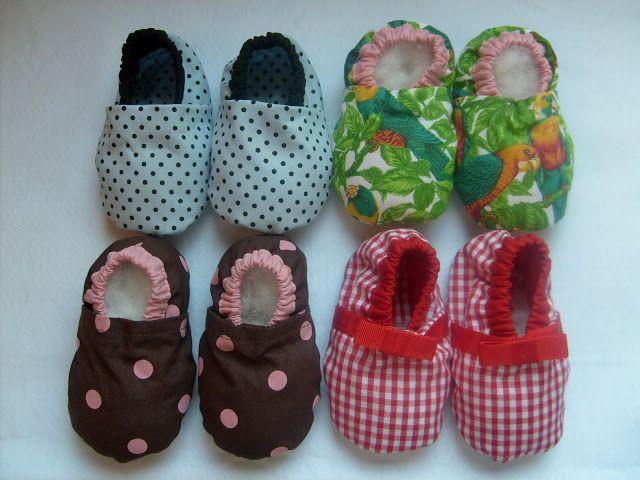 f55fbb8d71d317 Pantufas de tecido - com molde | Bebe | Sapatos, Sapatos de feltro e ...