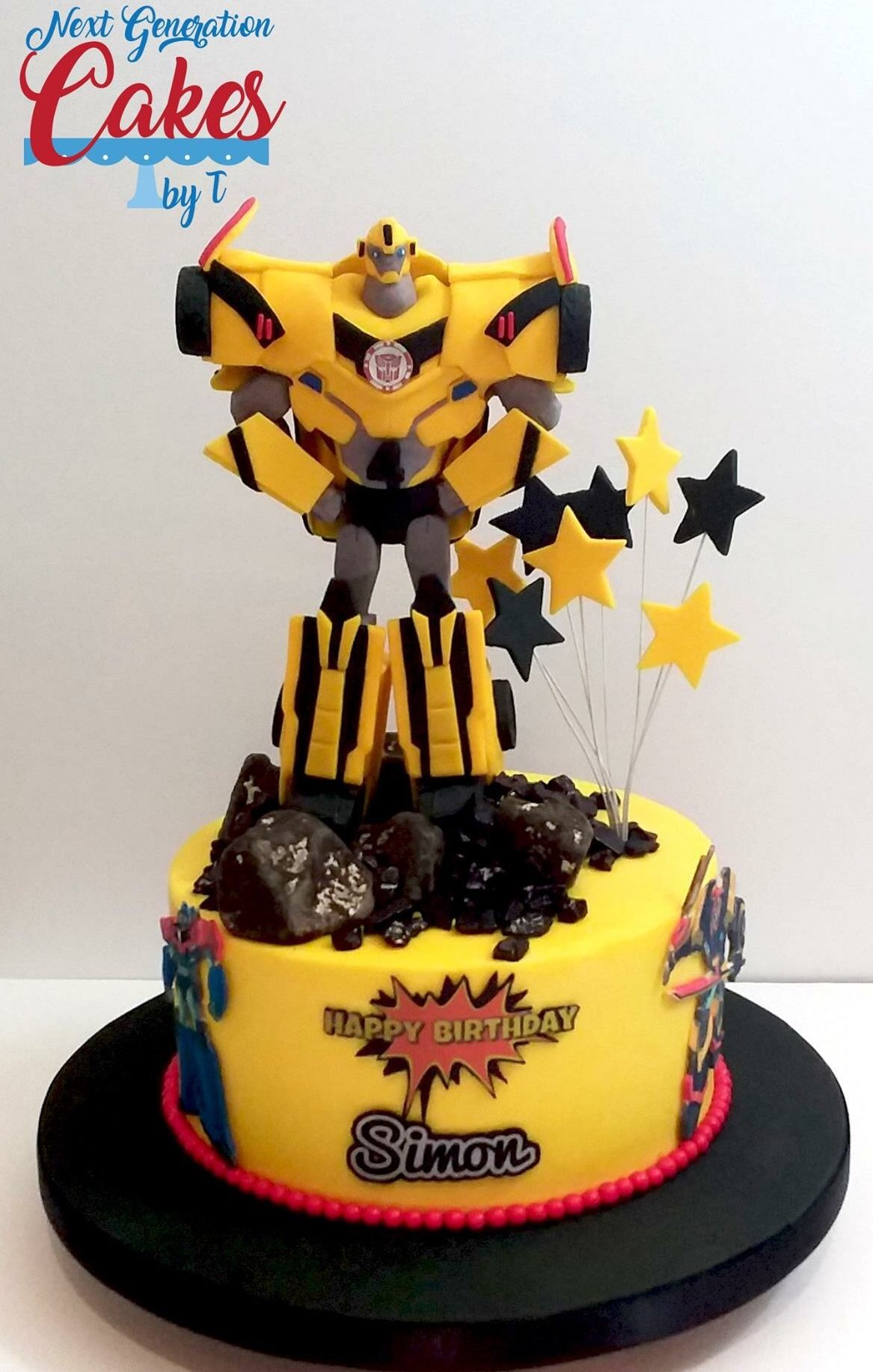 Fantastic Buttercream Bumblebee Transformer Birthday Cake The Transformer Funny Birthday Cards Online Ioscodamsfinfo