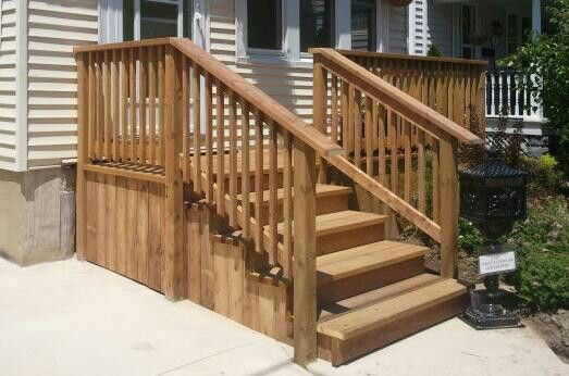 A tidy little front porch: hidden fasteners and Micropro Sienna lumber