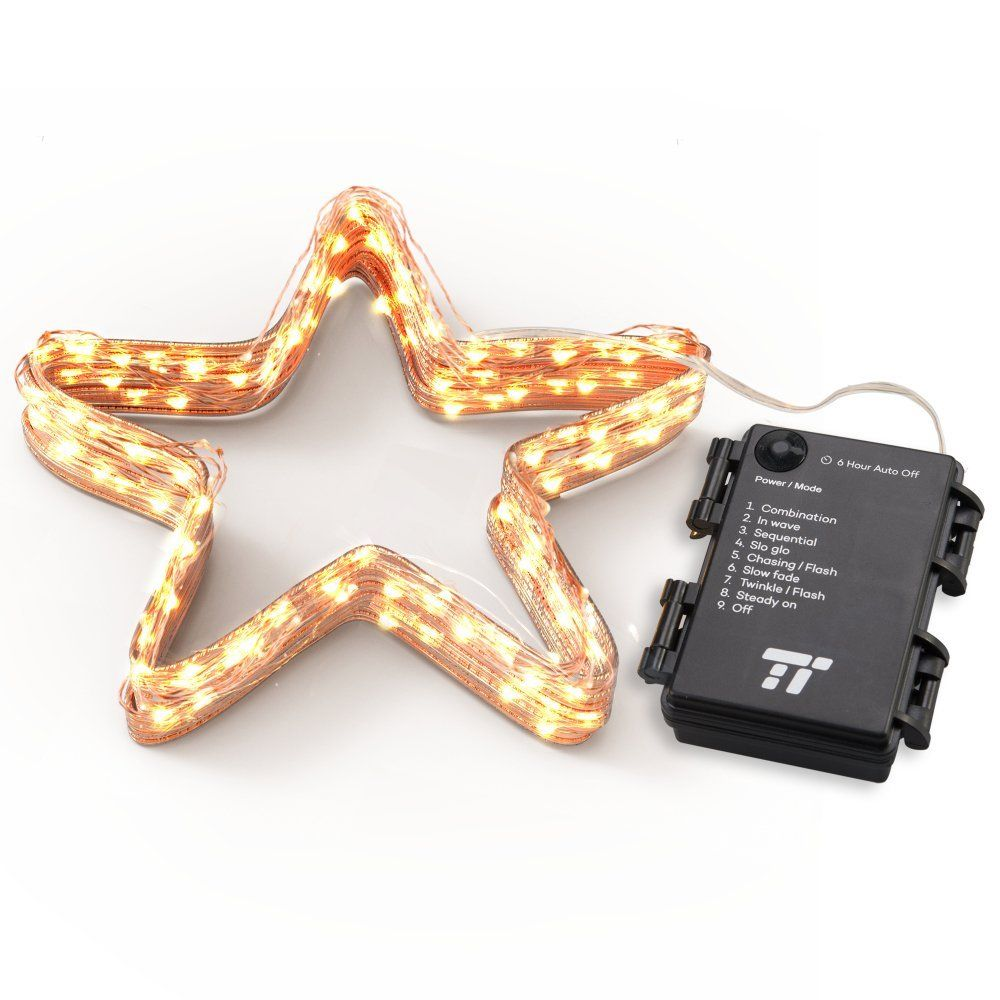 TaoTronics Battery Operated String Lights for Bedroom with Attached