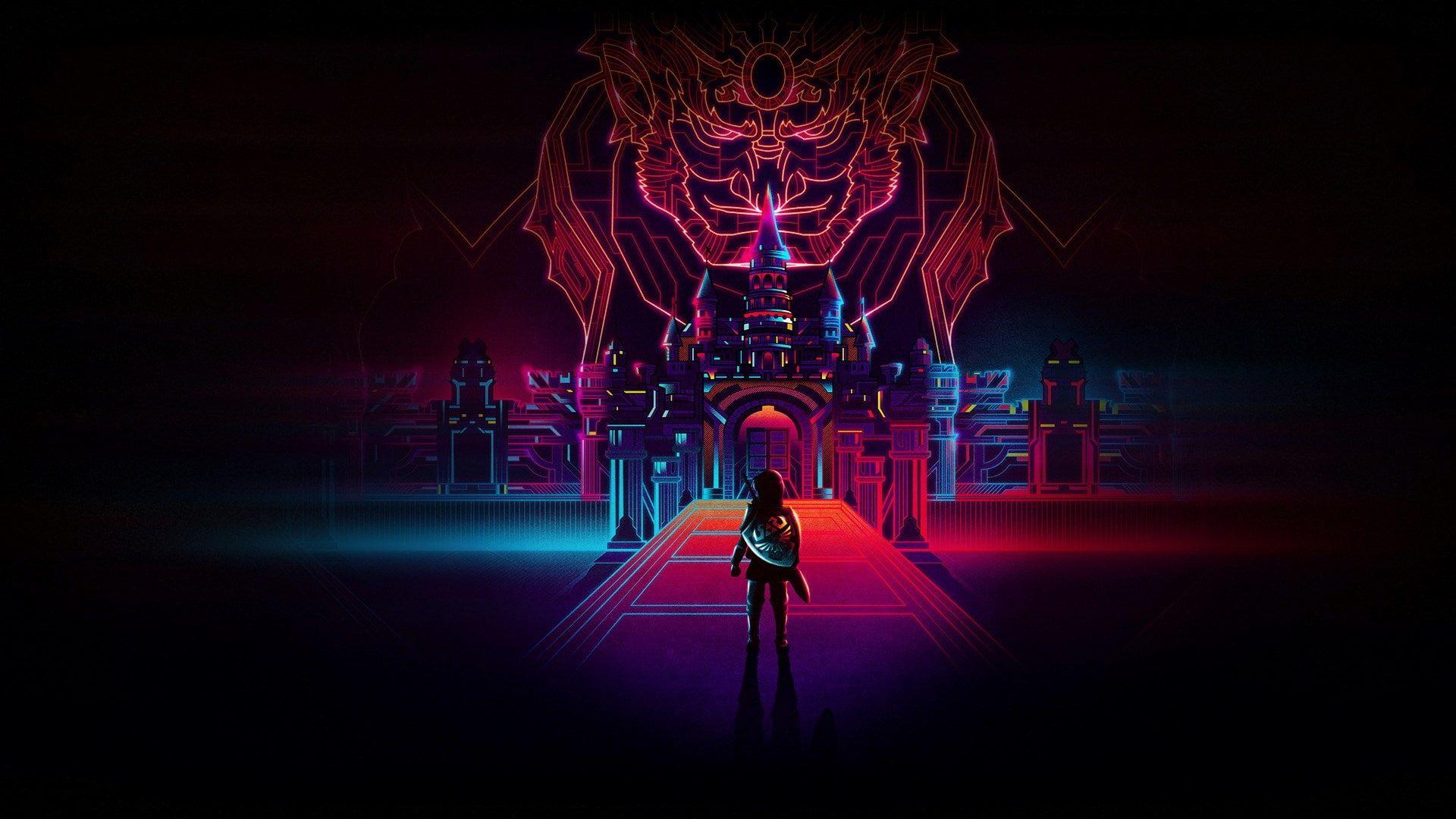 The Legend Of Zelda Computer Backgrounds 1080p Wallpaper Hdwallpaper Desktop In 2020 Neon Wallpaper Neon Light Wallpaper Neon Backgrounds