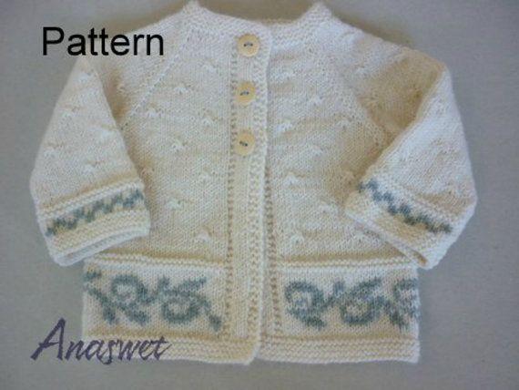Pattern baby cardigan.Winter baby cardigan.Pdf pattern .Top | Babies ...