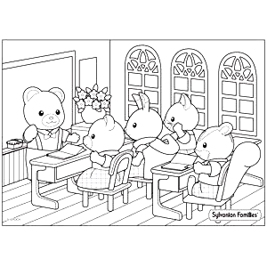 Colouring In Pages Sylvanian Families Family Coloring Pages Coloring Pages Preschool Coloring Pages