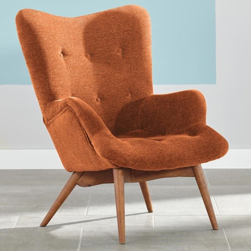 Best Ashley Pelsor Orange Accent Chair Weekends Only 400 x 300