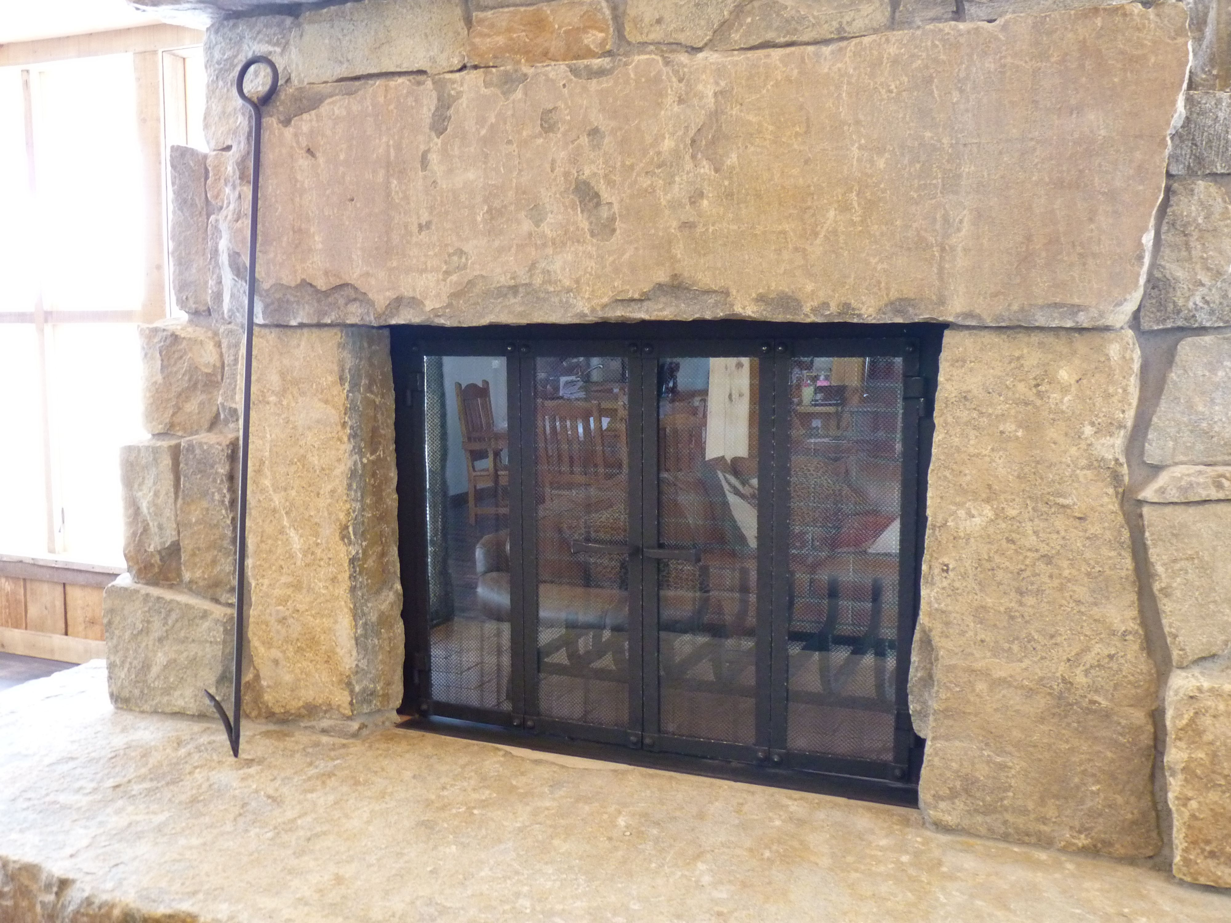 custom made custom bifold doors fireplace brick solutions