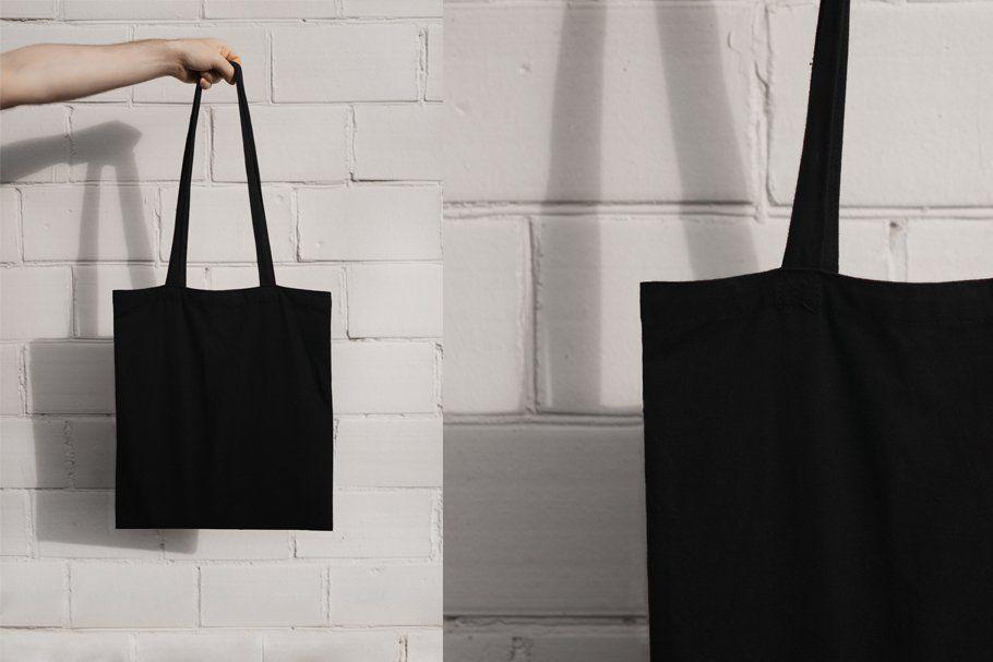 Download Black Tote Bag Mock Up Black Tote Bag Tote Bag Black Tote