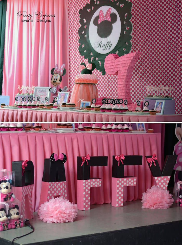 Minnie Mouse Birthday Party Minnie mouse Mice and Themed birthday