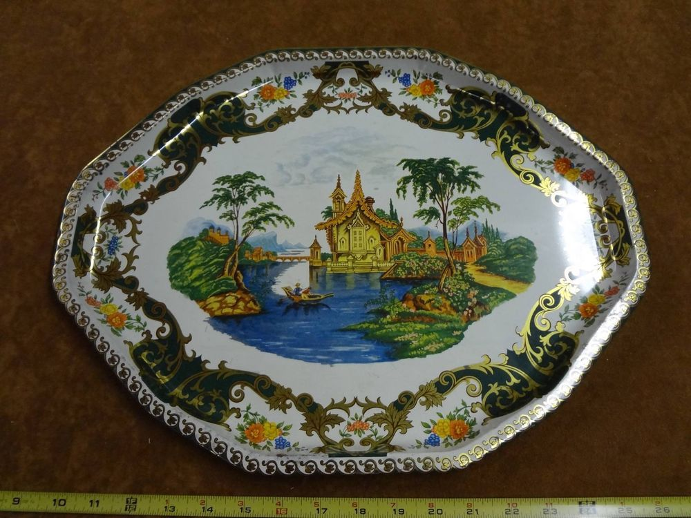 Daher Decorated Ware Tray Made In England Vintage Daher Decorated Ware Metal Tin Tray Long Island Ny 11101