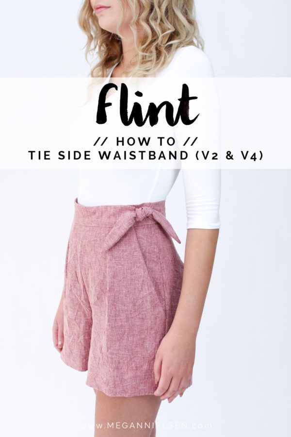 How to sew a tie side waistband // A Flint pants tutorial | things ...