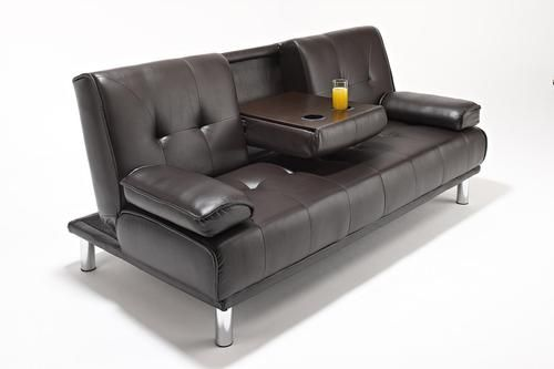cheaper 30bbe 55260 Details about New Large Cinema Sofa Bed Futon with Chrome ...