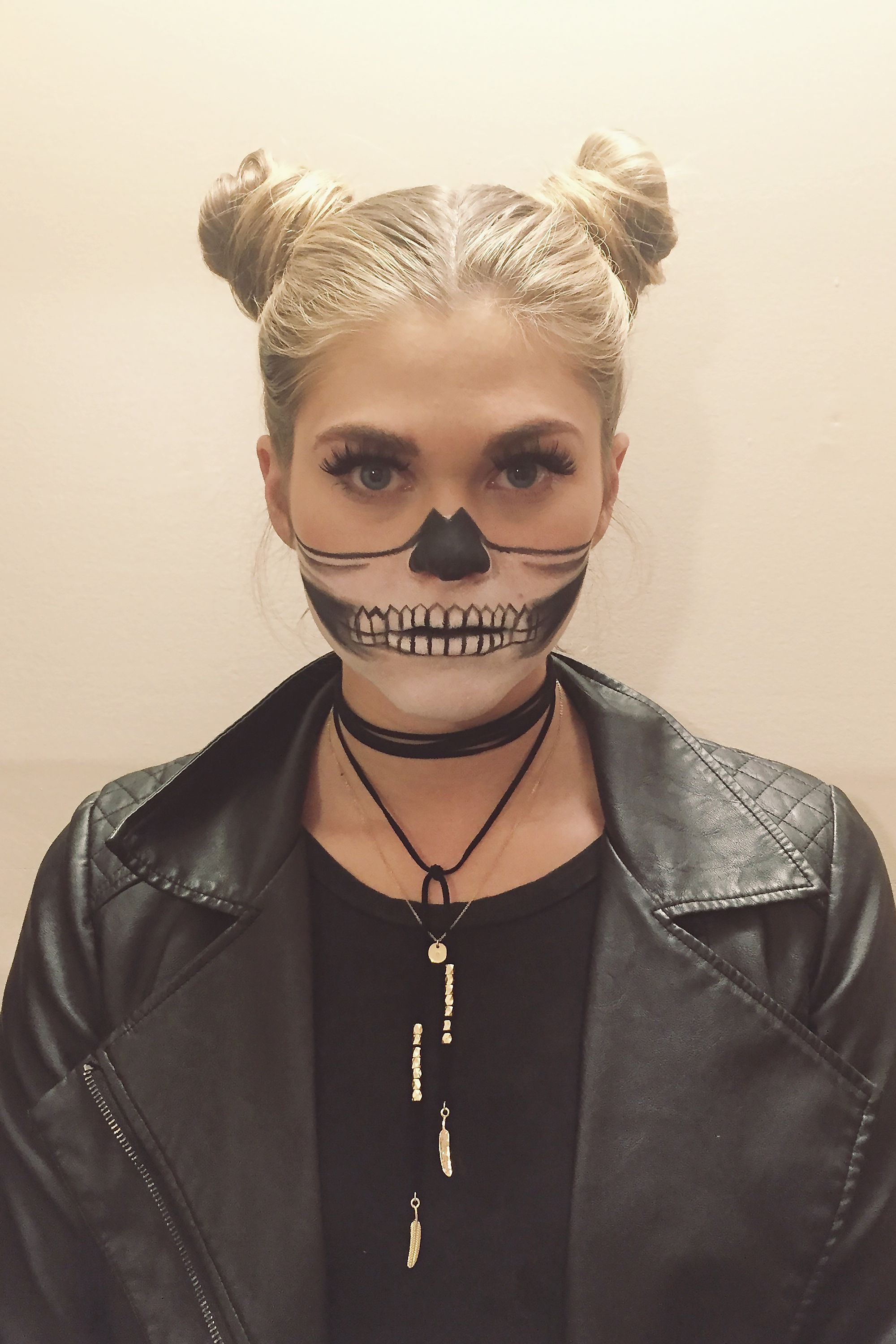 Halloween Makeup Ideas for Adults and Kids, skeleton girl