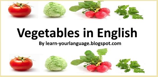 أسماء الخضروات بالانجليزية Vegetables In English Vegetables Fruit Language