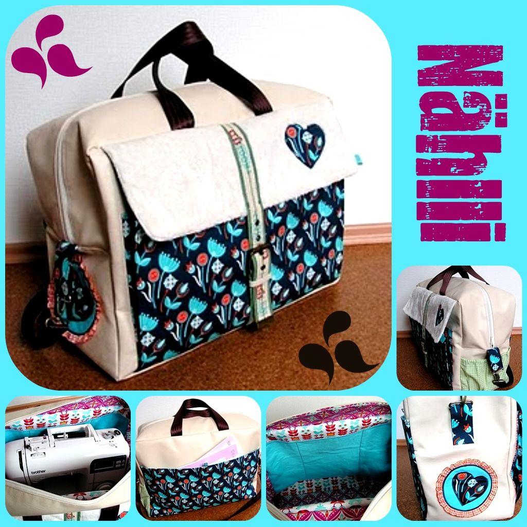 Bag inspiration. A sewing machine fits inside! | SAC POUR MACHINE À ...