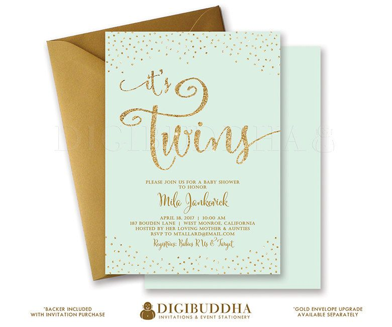 TWINS SHOWER INVITATION Baby Shower Invite by digibuddhaPaperie ...