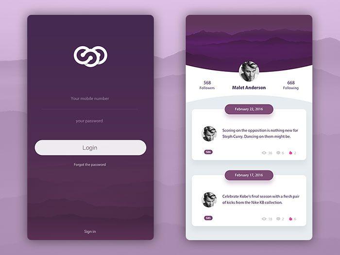 Mobile User Interface Login Form Design Inspiration 앱