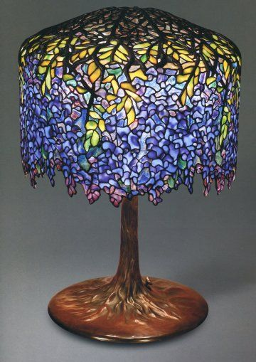6b9a5fa78356 Wisteria Lamp designed by Clara Driscoll from A New Light on Tiffany  Clara  Driscoll and the Tiffany Girls-seen at the Albuquerque Museum of Art and  History ...
