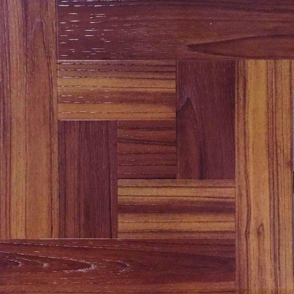 Trafficmaster Red Oak Parquet 12 In X 12 In Peel And Stick Vinyl