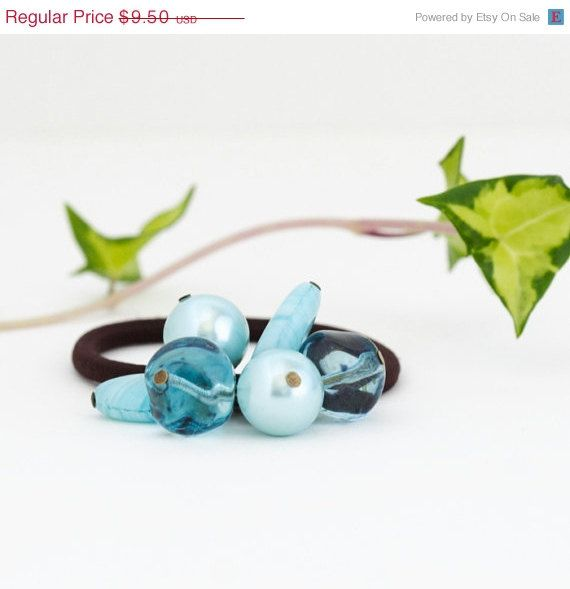Sale  Beaded Hair Elastic Hair Accessory  by JacarandaDesigns, $8.07