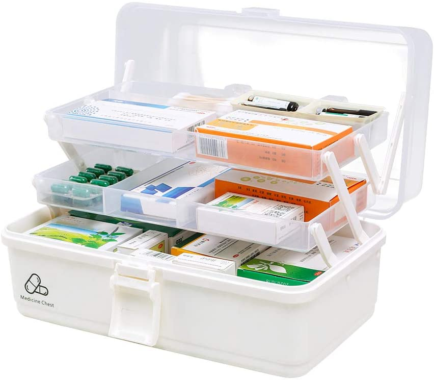 Hershii Plastic Medical Storage Containers Medicine Box Organizer Home Emergencies First Aid Kit Pill Case In 2020 Medication Storage Medicine Boxes Home Organization
