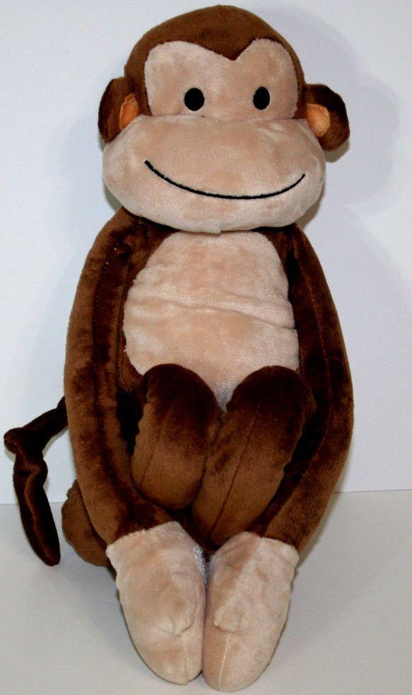 "Lambs Ivy Cocoa Plush 18"" Monkey Chimp Doll Velcro Paws Hands Jungle Animal"