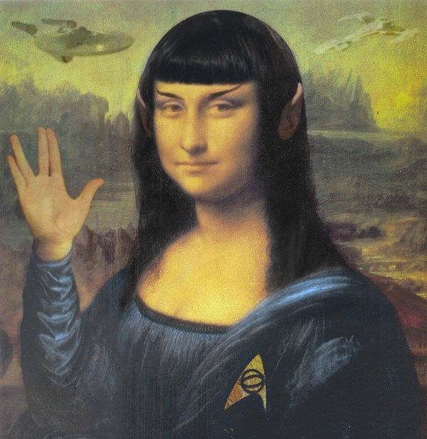 Vulcan Smile Worth1000 Contests Monna Lisa La Gioconda Arte Divertente