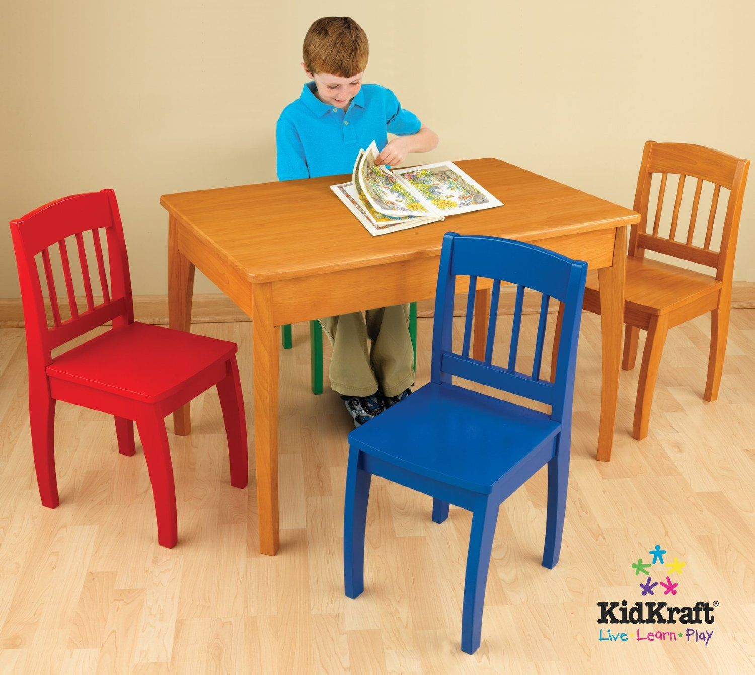 Kidkraft Euro Honey Table And 4 Chairs Kids Table Chair