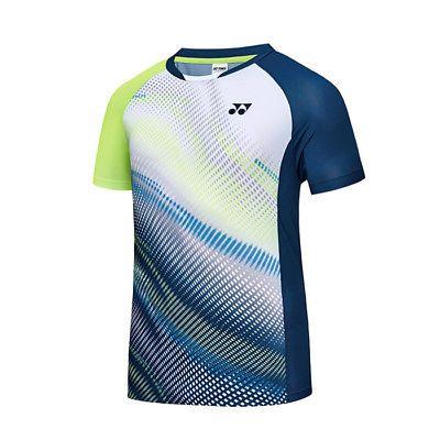 12faf5498 Yonex-2018-S-S-Collection-Men-039-s-Badminton-Round-T-Shirts -White-NWT-81TS045MWH