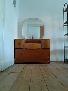 pick up cb476 c12e8 Harris Lebus Vintage Dressing Table with Large Mirror and 4 ...
