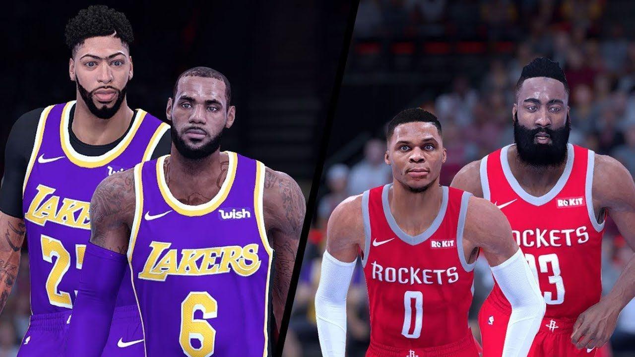 Nba 2k20 Gameplay Los Angeles Lakers Vs Houston Rockets Russ Full Gameplay Last Game