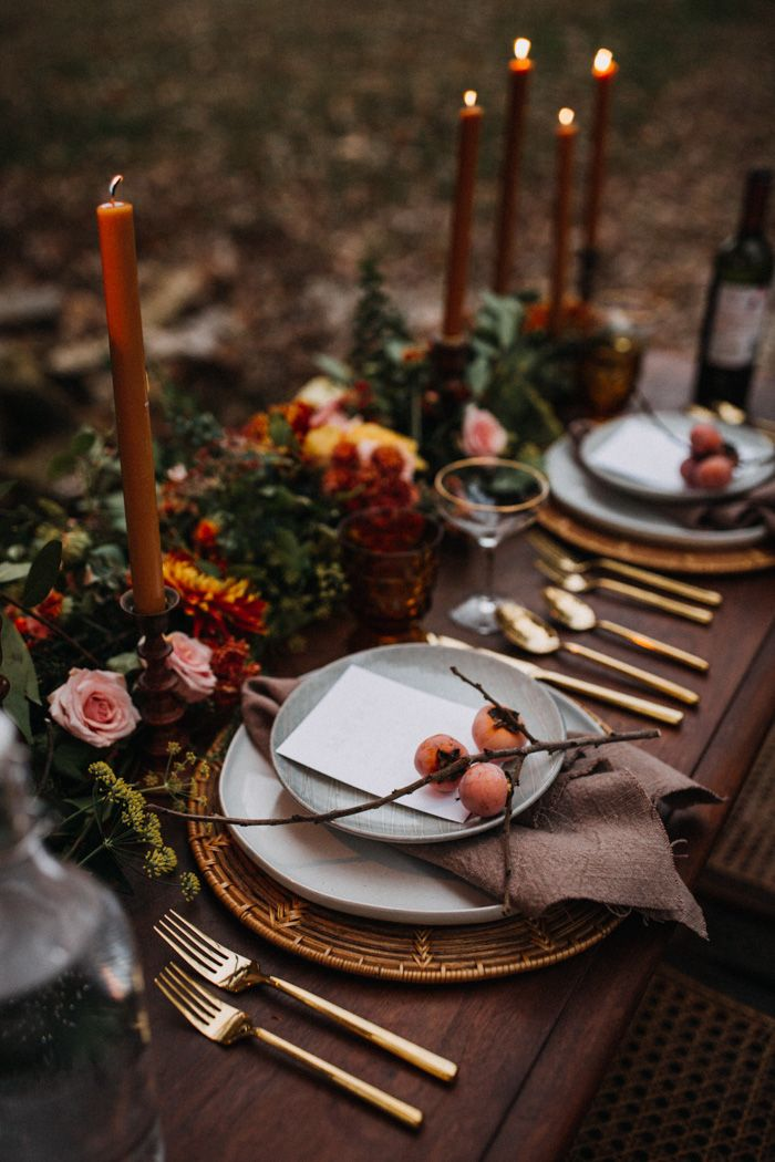 Intimate Autumnal Springfield, MO Forest Wedding at Rockspan Lodge | Junebug Weddings